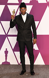Mahershala Ali, winner of Best Supporting Actor for 'Green Book' in the press room at the 91st Academy Awards held at the Dolby Theatre in Hollywood, Los Angeles, USA. Photo credit should read: Doug Peters/EMPICS.