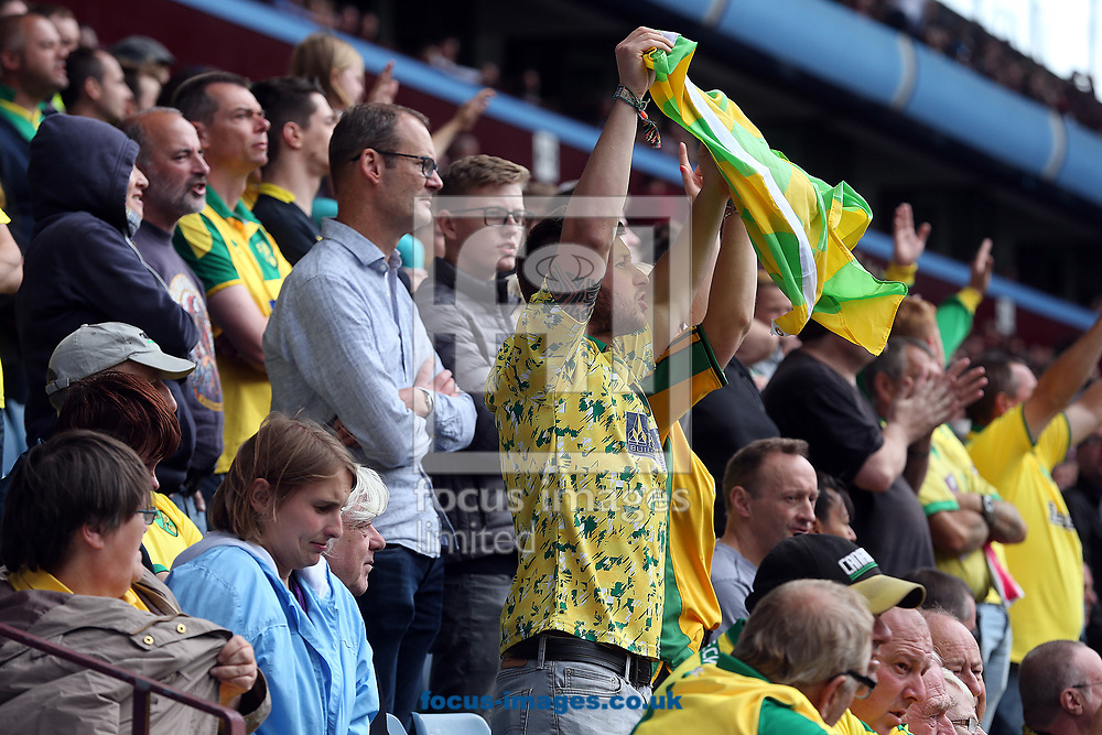 The traveling Norwich fans before the Sky Bet Championship match at Villa Park, Birmingham<br /> Picture by Paul Chesterton/Focus Images Ltd +44 7904 640267<br /> 19/08/2017