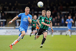 Marcus Maddison of Peterborough United in action with Jamie Allen of Rochdale - Mandatory by-line: Joe Dent/JMP - 09/04/2016 - FOOTBALL - ABAX Stadium - Peterborough, England - Peterborough United v Rochdale - Sky Bet League One