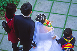 Wedding party in Hong Kong Park