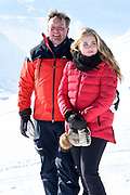 Fotosessie met de koninklijke familie in Lech /// Photoshoot with the Dutch royal family in Lech .<br /> <br /> Op de foto/ On the photo:  Koning Willem Alexander, Prinses Amalia ///// King Willem Alexander, Princess Amalia