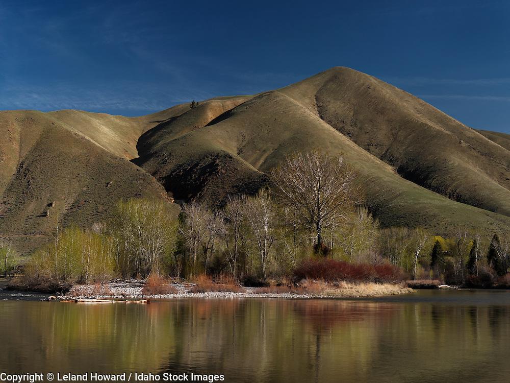 Idaho, central, Salmon River in spring