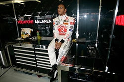 Melbourne. Australia - Friday, March 16, 2007: Lewis Hamilton (GBR, Vodafone McLaren Mercedes) at the opening Grand Prix of the Formula One World Championship in Australia.(Pic by Michael Kunkel/Propaganda/Hoch Zwei)