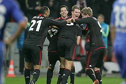 23.11.2011, BayArena, Leverkusen, Germany, UEFA CL, Gruppe E, Bayer 04 Leverkusen (GER) vs Chelsea FC (ENG), im Bild Torjubel/ Jubel nach dem 2:1 durch Manuel Friedrich (Leverkusen #5) // during the football match of UEFA Champions league, group E, between Bayer Leverkusen (GER) and FC Chelsea (ENG) at BayArena, Leverkusen, Germany on 2011/11/23.EXPA Pictures © 2011, PhotoCredit: EXPA/ nph/ Mueller..***** ATTENTION - OUT OF GER, CRO *****