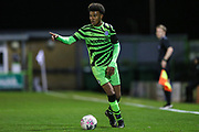 Forest Green Rovers Isaiah Jones(36) during the FA Youth Cup match between Forest Green Rovers and Helston Athletic at the New Lawn, Forest Green, United Kingdom on 29 October 2019.