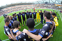 FOOTBALL - FRENCH CHAMPIONSHIP 2011/2012 - LE MANS FC v SC BASTIA   - 4/05/2015 - PHOTO PASCAL ALLEE / DPPI - A MINUTE OF SILENCE FOR THE 20 TH ANNIVERSARY OF INCIDENT TO FURIANI STADIUM