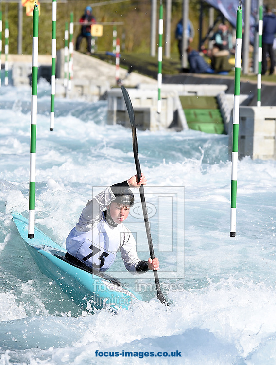 Robert Fernie during the British Canoeing Team Selections Trials at the Lee Valley White Water Centre, Edmonton<br /> Picture by Hannah Fountain/Focus Images Ltd 07814482222<br /> 16/04/2017
