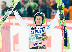 Peter Prevc of Slovenia celebrates after winning during the Ski Flying Individual Competition at Day 2 of FIS World Cup Ski Jumping Final, on March 20, 2015 in Planica, Slovenia. Photo by Vid Ponikvar / Sportida