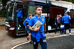 Michael Kelly of Bristol Rovers arrives at The Crown Oil Arena for the Sky Bet League One fixture with Rochdale - Mandatory by-line: Robbie Stephenson/JMP - 02/10/2018 - FOOTBALL - Crown Oil Arena - Rochdale, England - Rochdale v Bristol Rovers - Sky Bet League One