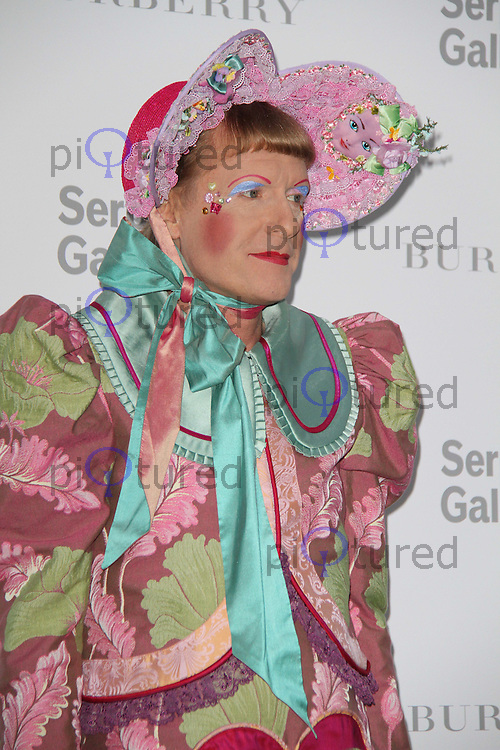 Grayson Perry The Serpentine Gallery Summer Party 2011 with Burberry, Kensington Gardens, London, UK, 28 June 2011:  Contact: Rich@Piqtured.com +44(0)7941 079620 (Picture by Richard Goldschmidt)