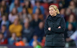SOUTHAMPTON, ENGLAND - Friday, April 6, 2018: Wales' manager Jayne Ludlow during the FIFA Women's World Cup 2019 Qualifying Round Group 1 match between England and Wales at St. Mary's Stadium. (Pic by David Rawcliffe/Propaganda)