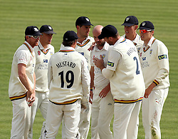 Durham celebrate the wicket of Middlesex's Nick Gubbins - Photo mandatory by-line: Robbie Stephenson/JMP - Mobile: 07966 386802 - 04/05/2015 - SPORT - Football - London - Lords  - Middlesex CCC v Durham CCC - County Championship Division One