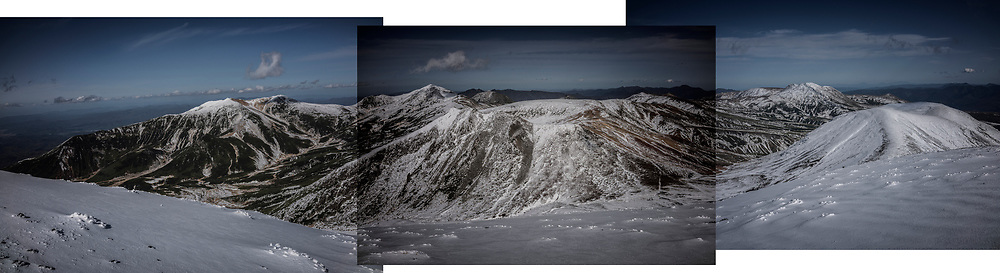 The first snowfall in Japan on Daisetsuzan Volcanic Group on the northern island of Hokkaido.  This group of active volcanoes is part of Japan's largest national park, Daisetsuzan National Park and it in the region known to be the coldest in all Japan.