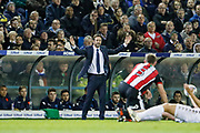 Thomas Christiansen Head Coach of Leeds United  during the EFL Sky Bet Championship match between Leeds United and Sheffield Utd at Elland Road, Leeds, England on 27 October 2017. Photo by Paul Thompson.