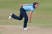 Kate Cross bowling during the Royal London Women's One Day International match between England Women Cricket and Australia at the Fischer County Ground, Grace Road, Leicester, United Kingdom on 4 July 2019.