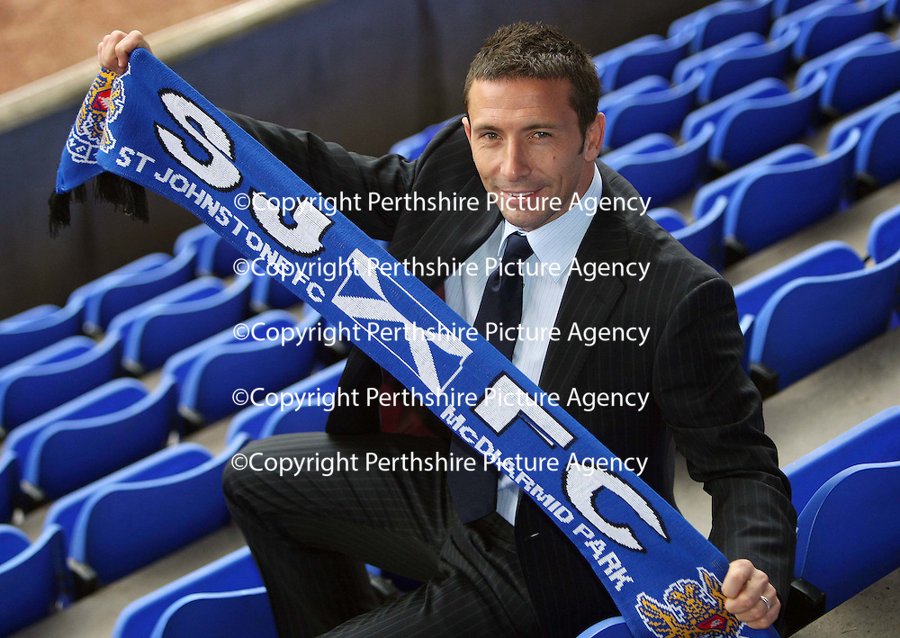 St Johnstone's new manager Derek McInnes who took up the reins at McDiarmid Park this morning.<br /> see story by Gordon Bannerman Tel: 01738 553978 or 07729 865788<br /> Picture by Graeme Hart.<br /> Copyright Perthshire Picture Agency<br /> Tel: 01738 623350  Mobile: 07990 594431