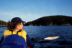 Acadia N.P., ME. Sea Kayaking. Seal Cove. Mt. Desert Island.