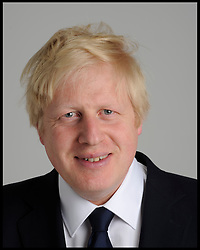 The Mayor Boris Johnson pose's for a portrait in the studio during his London Mayor Campaign, Friday April 13, 2012. Photo By Andrew Parsons/i-Images