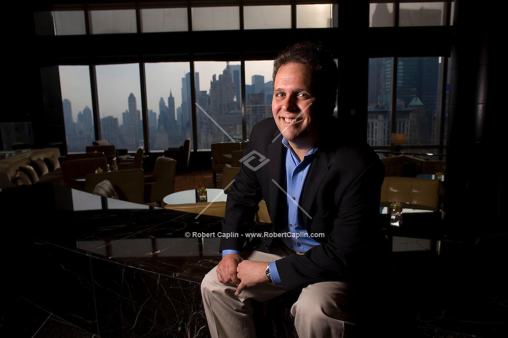 Former Ask.com CEO Steve Berkowitz was hired by Microsoft's  Online Business group, which includes include MSN.com, MSNTV and MSN Internet Access programming, advertising sales, business development, and marketing for Live Platforms, MSN and Windows Live. Here he poses in the lobby of the Mandarin Oriental Hotel in New York. Tues, Nov. 28, 2006. Robert Caplin For The New York Times....<br />
