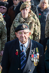 Soldiers Young and old stand on parade outside Barnsley Town Hall as  Barnsley Marks the Centenary of the out break of World War I on Remembrance Sunday <br /> <br /> 09 November 2014<br /> <br /> Image © Paul David Drabble <br /> <br /> www.pauldaviddrabble.co.uk
