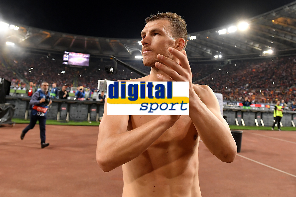 Edin Dzeko waves supporters at the end of the match <br /> Roma 02-05-2018 Stadio Olimpico<br /> Football Calcio UEFA Champions League 2017/2018 AS Roma - Liverpool <br /> Semifinali di ritorno, Semi finals 2nd leg<br /> Foto Andrea Staccioli / Insidefoto