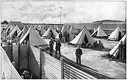 Boer prisoners in camp at Bloemfontein. 2nd Boer War 1899-1902.