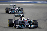 HAMILTON Lewis (Gbr) Mercedes Gp Mgp W05 Action during the 2014 Formula One World Championship, Grand Prix of Bahrain on April 6, 2014 in Sakhir, Bahrain. Photo François Flamand / DPPI