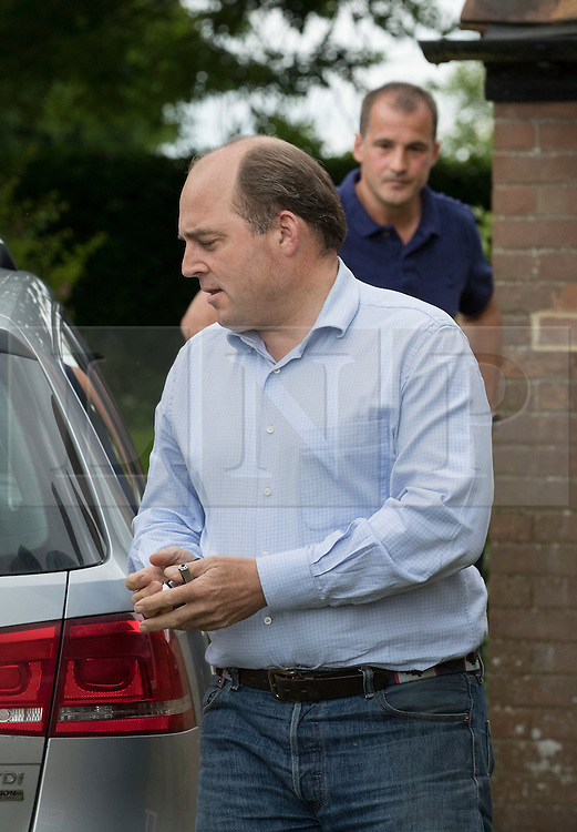 © Licensed to London News Pictures. 26/06/2016. Oxfordshire, UK. MPs Ben Wallace (L) and Jake Berry arrive at the home of Boris Johnson for a meeting. Prime Minister David Cameron his holding a cabinet meeting tomorrow after announcing his resignation on Friday. The United Kingdom has voted to leave the EU in an historic referendum.  Photo credit: Peter Macdiarmid/LNP