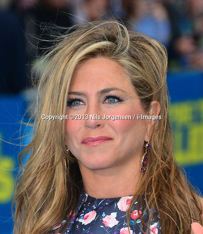 Jennifer Aniston arrives for the We're The Millers - European Film Premiere. Odeon, London, United Kingdom. Wednesday, 14th August 2013. Picture by Nils Jorgensen / i-Images