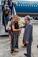 31-5-2017 HANOI - Arrival of Queen M&aacute;xima at Hanoi Airport. Queen Maxima, in her capacity as Special Prosecutor of the Secretary-General of the United Nations, for Inclusive Finance for Development, will visit the Socialist Republic of Vietnam on Tuesday, May 30, and Thursday, June 1, 2017. COPYRIGHT ROBIN UTRECHT <br /> <br /> 31-5-2017 HANOI - aankomst van Koningin M&aacute;xima  op het vliegveld van Hanoi . Koningin Maxima bezoekt in haar hoedanigheid van speciale pleitbezorger van de secretaris-generaal van de Verenigde Naties voor inclusieve financiering voor ontwikkeling (inclusive finance for development) de Socialistische Volksrepubliek Vietnam van dinsdag 30 mei en met donderdag 1 juni 2017.  COPYRIGHT ROBIN UTRECHT NETHERLANDS ONLY !!