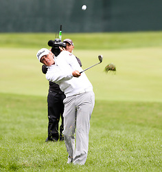 June 23, 2018 - Cromwell, Connecticut, United States - Matt Jones hits out of the rough on the 9th hole during the third round of the Travelers Championship at TPC River Highlands. (Credit Image: © Debby Wong via ZUMA Wire)