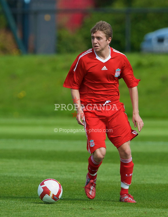 KIRKBY, ENGLAND - Saturday, August 23, 2008: Liverpool's Jack Metcalf in action against Crystal Palace during the FA Academy Under 18 match at the Academy. (Photo by David Rawcliffe/Propaganda)