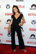 Actress Gina Gershon poses on the red carpet at the premiere of the movie Staten Island Summer at Sunshine Cinema, Tuesday, July 21, 2015, in New York.  The new comedy debuts on Netflix on July 30, 2015 and is available for Digital download. (Photo by Diane Bondareff/Invision for Paramount Pictures/AP Images)