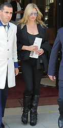 kate moss seen leaving the ritz hotel in paris holding a copy of todays new york times<br /><br />5 July 2017.<br /><br />Please byline: PalaceLee/Vantagenews.com