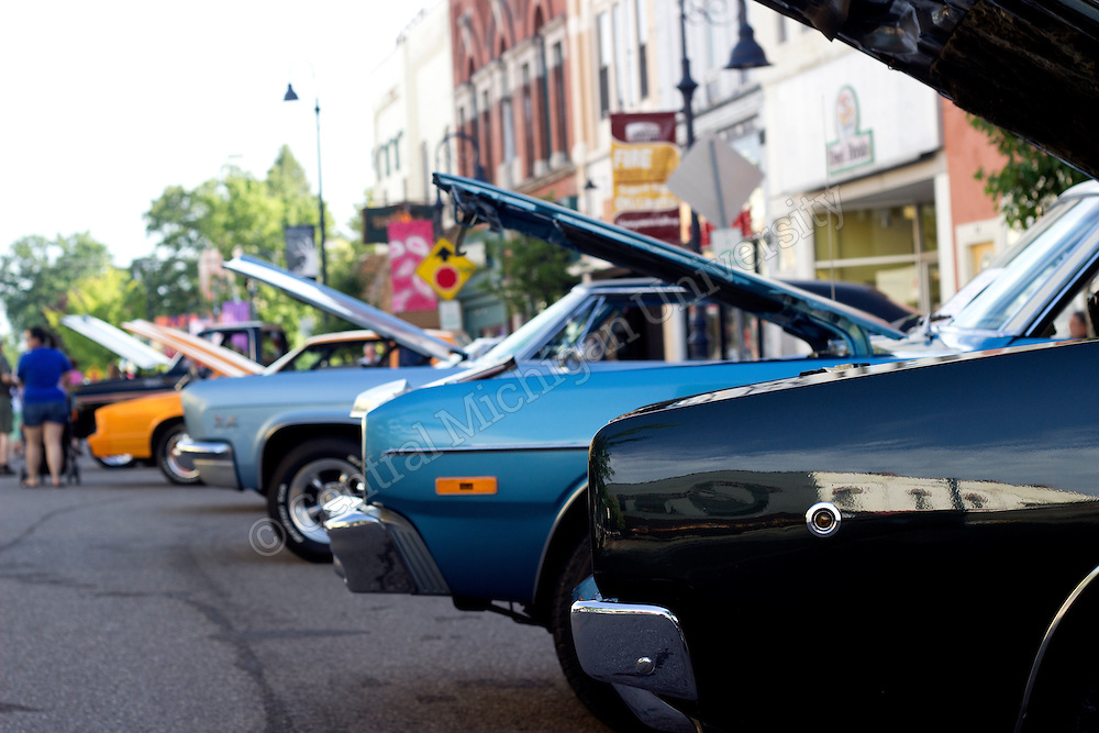 Cars from around the state come to Mount Pleasant to show off their pride and joy during Mount Pleasants annul event Back to the Bricks. Families from Mount pleasant come to enjoy all the cool and different cars.