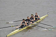 London, GREAT BRITAIN, Cambridge University I,  Elite M4+, Pennant Winners  Fullers Fours Head of the River Race, Raced over the reverse Championship Course, Mortlake to Putney. Saturday  [Date}. [Mandatory Credit. Peter Spurrier/Intersport Images] Rowing Course: River Thames, Championship course, Putney to Mortlake 4.25 Miles,