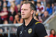 Newport County manager Mike Flynn during the EFL Sky Bet League 2 match between Northampton Town and Newport County at the PTS Academy Stadium, Northampton, England on 14 September 2019.