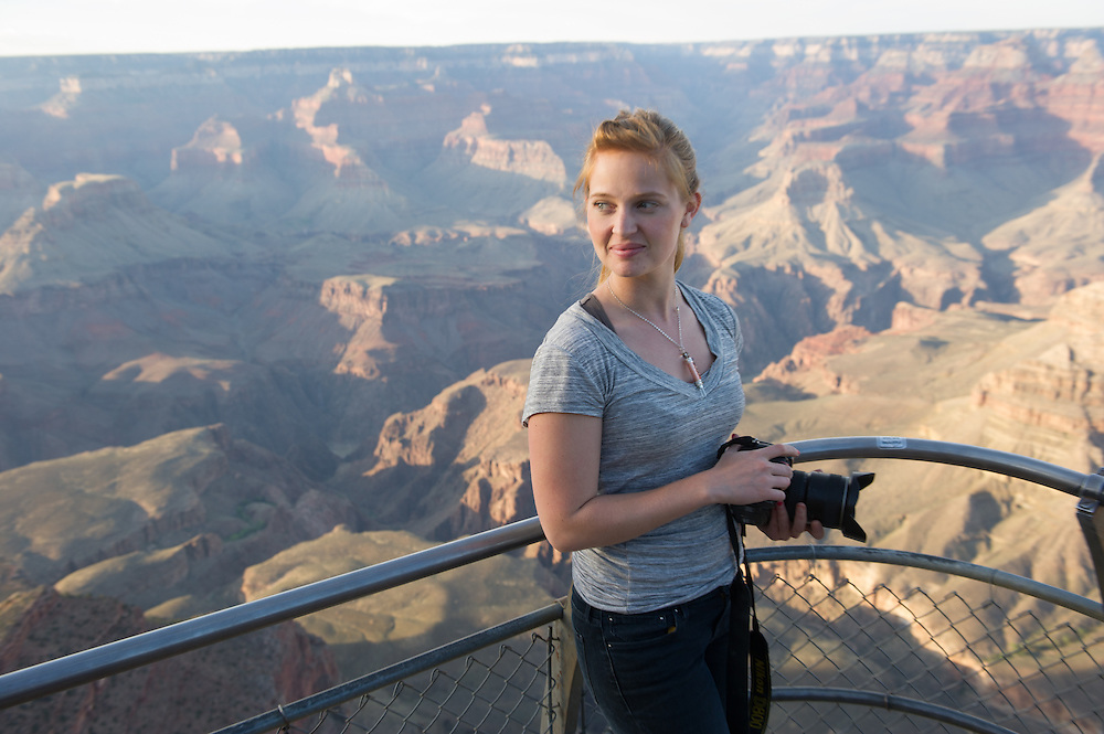 Young female Photographer at Grand Canyon