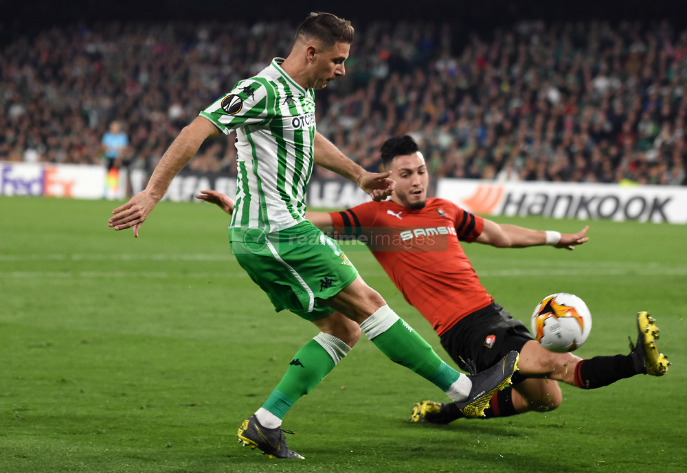 February 21, 2019 - Seville, Spain - Soccer players Joaquin Sanchez during the Europa League round of 32 second leg soccer match between Betis and Rennes at the Benito Villamarin stadium, in Seville, Spain, Thursday, Feb. 21, 2019. (Credit Image: © Gtres/NurPhoto via ZUMA Press)