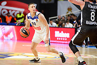 Real Madrid's Jaycee Carroll and Brose Bamberg's Lucca Steiger during Turkish Airlines Euroleague between Real Madrid and Brose Bamberg at Wizink Center in Madrid, Spain. December 20, 2016. (ALTERPHOTOS/BorjaB.Hojas)