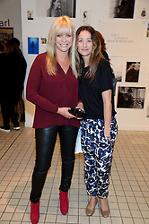 Left to right, JO WOOD and her daughter LEAH WOOD at the Mother Of Pearl, Polly Morgan & Sunday Times Style Hosted London Fashion Week Pop-Up Shop at The Shop at Bluebird, Kings Road, London on 12th September 2013.