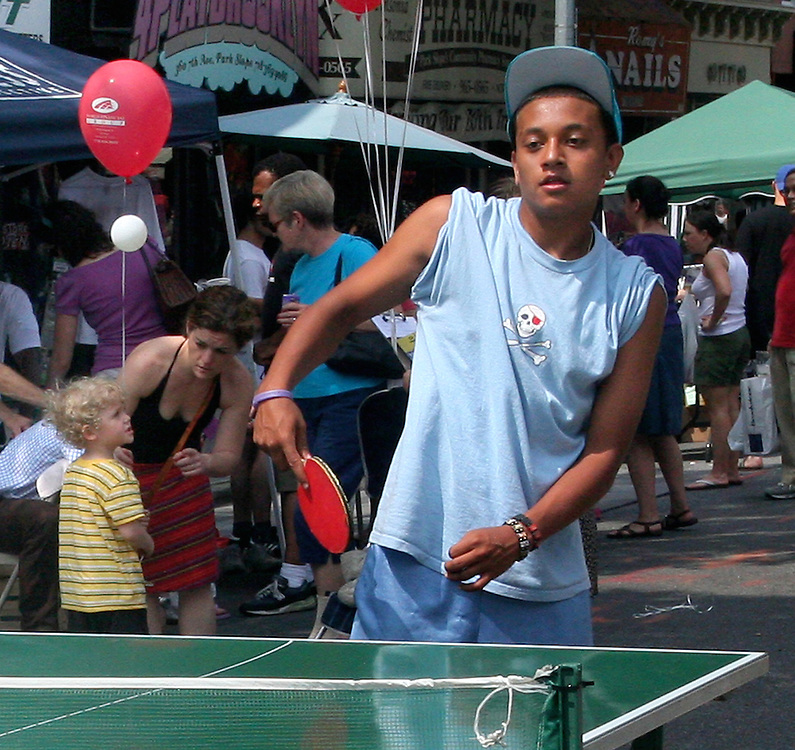 Ping Pong at the 7th Heaven Street Fair.