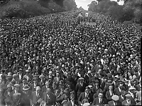 Crowds gather for the Eucharistic Congress in the Phoenix Park in 1932.<br /> (Part of the Independent Ireland Newspapers/NLI Collection)