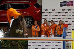 Team Netherlands, Ehrens Rob, Houtzager Marc, Hendrix Michel, Hoogendoorn Arie, NED<br /> CSIO Barcelona 2017<br /> © Hippo Foto - Dirk Caremans<br /> 01/10/2017