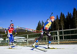 VITKOVA Veronika (CZE) and MAKARAINEN Kaisa (FIN) compete during Women 12,5 km Mass Start at day 4 of IBU Biathlon World Cup 2014/2015 Pokljuka, on December 21, 2014 in Rudno polje, Pokljuka, Slovenia. Photo by Vid Ponikvar / Sportida