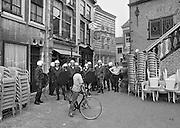 Nederland, Nijmegen, 25-9-1984Demonstratie tegen het voornemen van het kabinet Lubbers om te korten op uitkeringen van voordeurdelers.Foto: Flip Franssen/Hollandse Hoogte