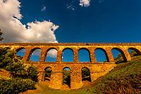 A Roman Aqueduct, Almunecar, Costa Tropical, Granada Province, Andalusia, Spain.