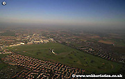 aerial photograph of Aintree Racecourse Liverpool Merseyside England  UK