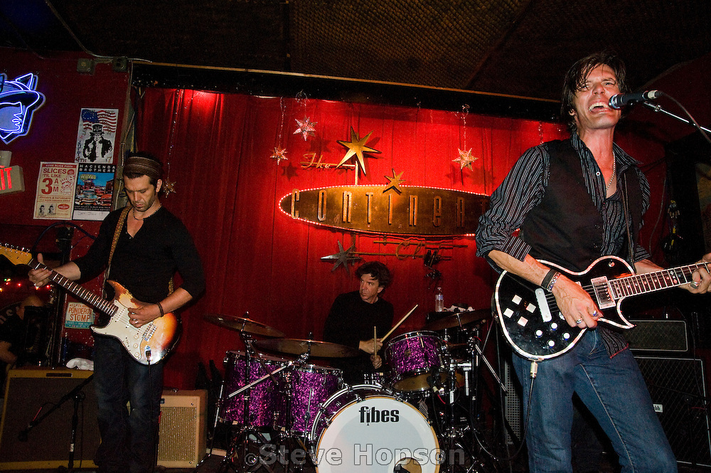 The ARC Angels perform at the Continental Club, Austin Texas, April 23 2009. The ARC Angels are Charlie Sexton, Doyle Bramhall II, and Chris Layton.