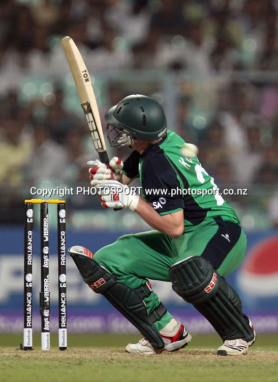 Ireland batsman Kevin O'Brien during the ICC Cricket World Cup - 34th Match, Group B South Africa vs Ireland Played at Eden Gardens, Kolkata, 15 March 2011 - day/night